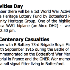 Village Voice Issue No 79 WW1 Centenary Bottesford Village Voice