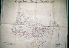 Plan of allotments, Bottesford, before Grantham Road was built