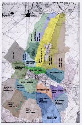 A map showing the pattern of Pre-enclosure fields and other features of Bottesford parish   Robert Sparham