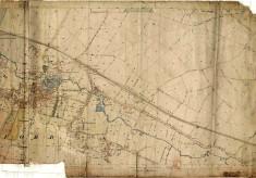 Detailed Bottesford village map of 1884, Ordnance Survey