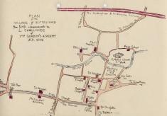 Plan of Bottesford village, drawn by L.Challands, 1848