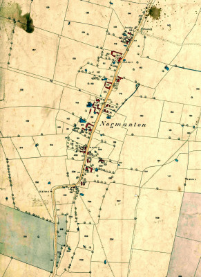 Detailed map of Normanton, published 1884, Ordnance Survey | Original paper map constributed by Mr Mike Saunders
