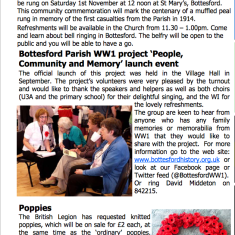 Village Voice No 74 WW1 Centenary | Bottesford Village Voice