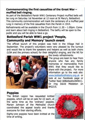 Village Voice No 74 WW1 Centenary | Bottesford Village Voice