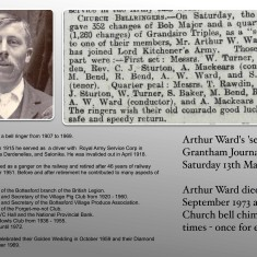 Arthur Ward - Bottesford Tower Bell Ringer