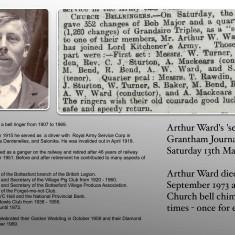 Arthur Ward - Bottesford Tower Bell Ringer