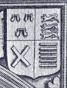 Edmund Roos shield, on the tomb of Lady Joyce Cherleton, Enfield (after Nichols). | Neil Fortey, 2015