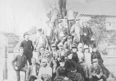 Late 19th Century bicyclists at The Cross Bottesford (2)