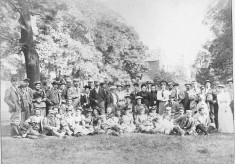 Nottingham Bicycle Club possibly in the grounds of Belvoir Castle