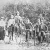 Nottingham Bicycle Club riders, at unknown location possibly near Belvoir Castle