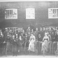 Nottingham Bicycle Club. Possibly an unknown location in the Vale of Belvoir | Reproduced with the kind permission of Nottingham Museums and Galleries - Album NCM 1973-42