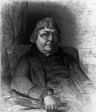 Engraving of John Nichols, the 18th Century publisher and antiquary.