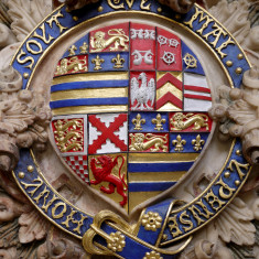 Closer view of the shield of the 2nd Earl of Rutland. | Neil Fortey