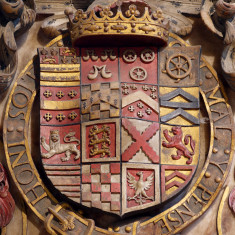Detailed view of the shield of the 3rd Earl of Rutland | Neil Fortey