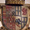 Joint heraldic shield of Edward, 3rd Earl, and Isabel, 3rd Countess of Rutland.