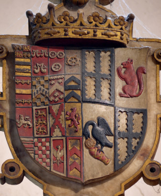 Shield of Edward 3rd Earl and his wife Isabel Holcroft's family. | Neil Fortey