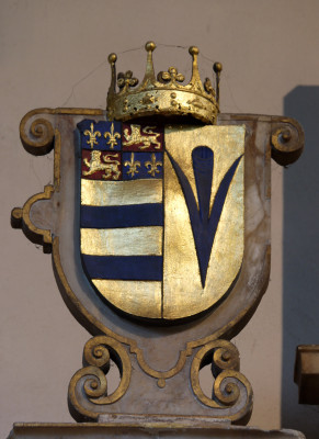 Shield in which the Manners arms are combined with those of the Sidney family (right, as we see it) | Neil Fortey