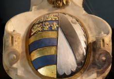 Shield of Earl Francis and his first wife, Countess Frances Knyvet