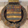 Shield displaying the arms of the Manners, Earls of Rutland