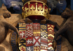 Heraldic shield of Francis Manners, 6th Earl of Rutland