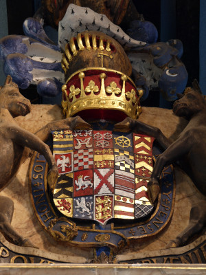 Shield of Francis Manners, 5th Earl of Rutland, in its spectacular setting | Neil Fortey