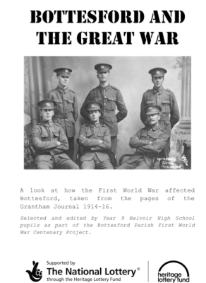 Bottesford and the Great War Yr9 Belvoir High School Newsletter February 2015