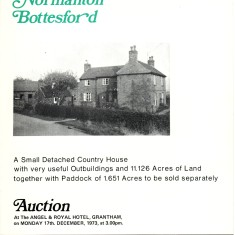 Estate Agents Escritt and Barrell's sales brochure for The Homestead, Normanton, 1973 | Neil Fortey