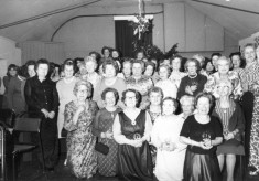 WI 1975 Christmas Party: Old VC Hall, Belvoir Road, Bottesford.