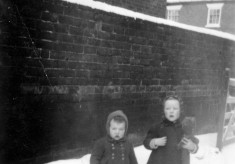 Children in the snow, 1947