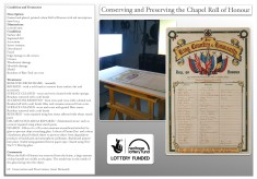 Conserving the Bottesford Chapel 'Great European War of 1914' Roll Honour