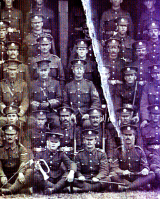 Here, CSM Alfred Swallow is clearly seen seated to the left of the Major at the centre of the picture. | Viv Finch