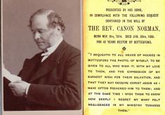 The Rev. Canon Frederick John Norman