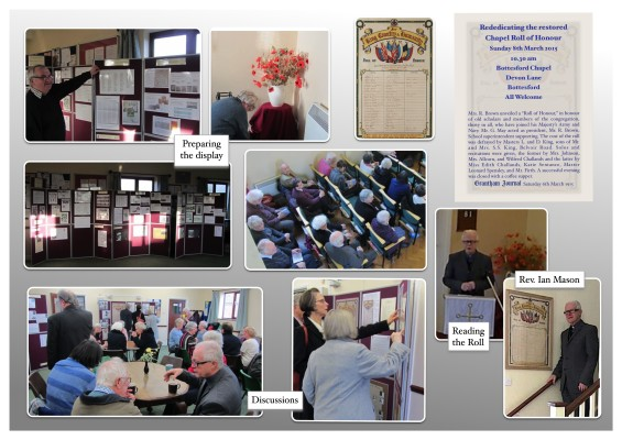 Rededicating the Bottesford Methodist Chapel 1st World War Roll of Honour
