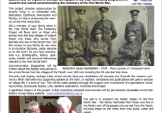 Bottesford  Parish WW1 Centenary News Bulletins