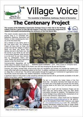 Village Voice Issue 71 WW1 Centenary | Bottesford Village Voice