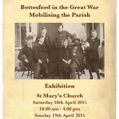 Bottesford in the Great War - Exhibition, 18th - 19th April 2015 | Image Courtesy of Mrs. A Pacey & family
