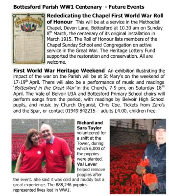 Village Voice No 76 WW1 Centenary | Bottesford Village Voice
