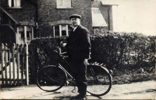 Bill Bryan outside the family home in Nomanton, around 1939.   Contributed by Mrs Betty Topps.