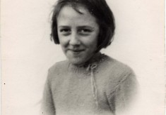 Betty Topps, nee Bryan, as a young girl