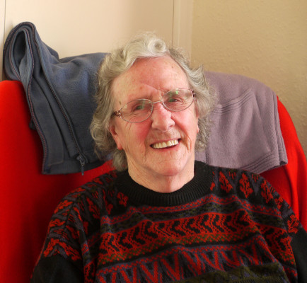 A portrait of Betty at her apartment in the Warwick Flats, Bottesford | Neil Fortey
