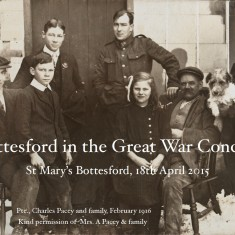 Bottesford in the Great War Concert souvenir post card | Bottesford Community Heritage Group