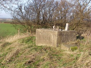 A picture of the remains of the Cold-War Observer Post that was built on top of Beacon Hill, Bottesford. There had previously been a WW2 observer post and possibly also an air-raid shelter on the hill, though their precise locations are uncertain and no traces remain. | Neil Fortey