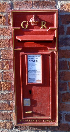 The old wall-mounted GPO post box in Normanton, dating from around the time of the Second World War (bearing the initials GR), photographed in 2007. | Neil Fortey