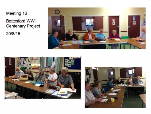 Meeting 16 Bottesford Parish WW1 Centenary Project - 20/815