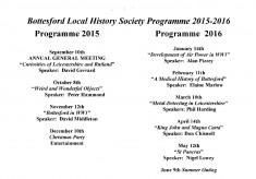 Bottesford History Society 2015 - 2016