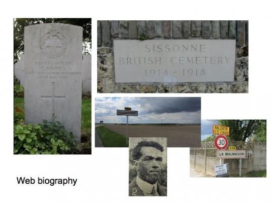 Charles Baines  - Sissonne British Cemetery   BCHP