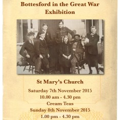 Bottesford in the Great War Exhibition Poster 7-8th November 2015 | BCHG