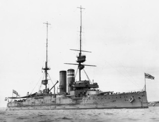 A picture of battleship, H.M.S. Dominian, launched 1903. | Wikipedia