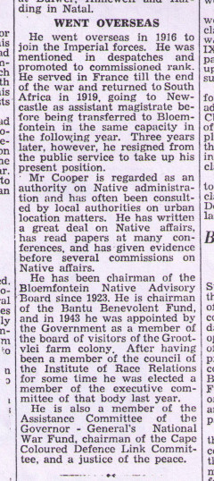 John Richard Cooper, retirement notice, continued. | Press clipping