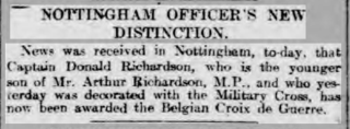 First news of Richardson's bravery. | UK Newspaper Archive